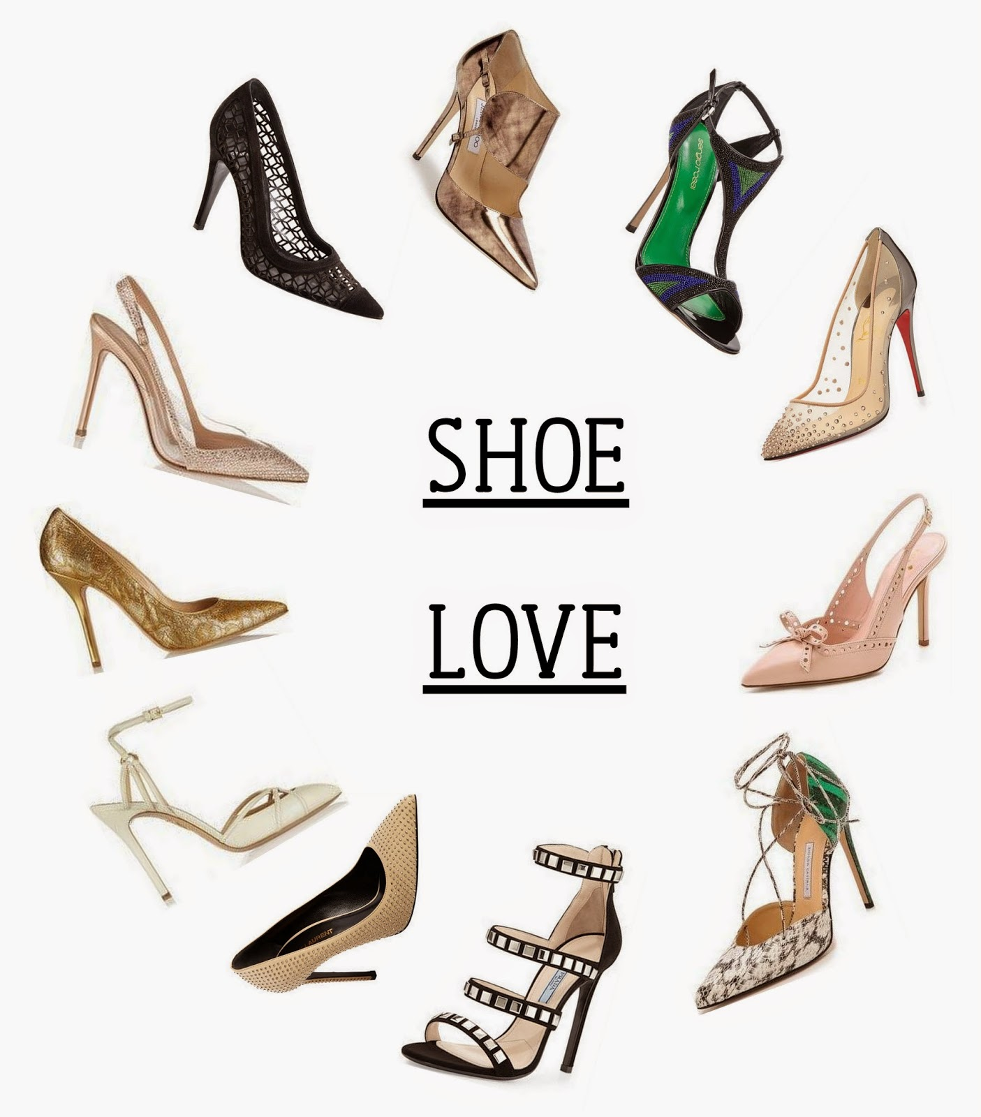 Louboutin christian shoes collage
